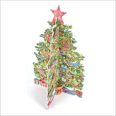 ADV33 3D Christmas Tree Advent Calendar by Phoenix Trading. Pop out a character each day to build up the picture, can be reused. Only £7.50 and can be ordered at www.nichola.cards