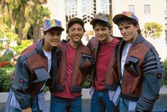 Michael J. Fox with his Marty McFly stunt doubles Marty Mcfly, Mark Wahlberg, Movies And Series, Movies And Tv Shows, Tom Cruise, Michael J. Fox, Kardashian, J Fox, Stunt Doubles