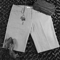 """NWT Bramuda Shorts Brand New Grey Bramuda Shorts. Two front pockets and two just for show pockets on the back. 11"""" inseam perfect for the office! Shorts"""