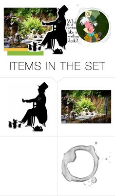 """""""Mad as a Hatter"""" by morgance ❤ liked on Polyvore featuring art"""