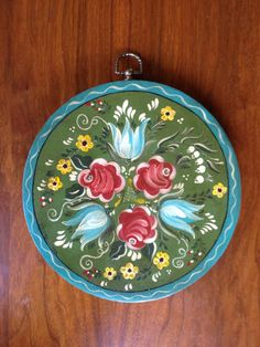 Beautiful Vintage Scandinavian Style Folk Painting by janewithjoy, $12.00