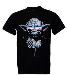c413a0b8fef0 Yoda Cool Dj Hip Hop Star Wars Quality T Shirts