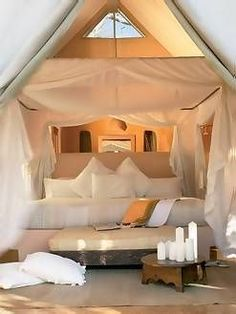 Garonga Safari Camp game reserve in Kruger National Park, Limpopo, South Africa Luxury Tents, Luxury Camping, Kruger National Park, National Parks, Camping Con Glamour, Tent Camping, Lodges, Decoration, South Africa