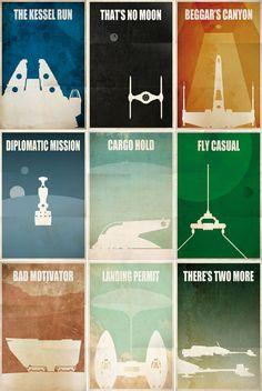star wars minimalista... Cosas que no pueden faltar en tu habitacion... Claro si eres GEEK