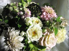 """Купить Букет""""Утренняя свежесть"""" .Полимерная флористика. - зеленый, букет цветов, букет из полимерной глины"""