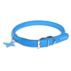 Rundsyet halsbånd - Blå