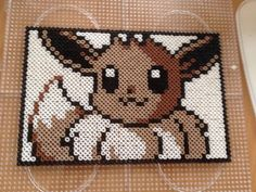 Eevee - Pokemon perler beads by QueenChalo