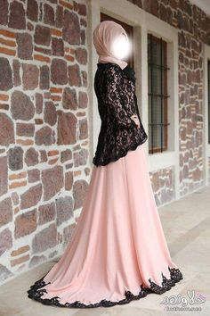 Pink black colors hijab evening dress model pictures and new season te … – Tesettür Islamic Fashion, Muslim Fashion, Modest Fashion, Fashion Dresses, Hijab Evening Dress, Evening Dresses, Prom Dress, Modest Dresses, Stylish Dresses
