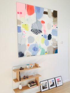 Kiss and tell 150x150 by Vibeke Lerfeldt Bjerker #art #modernart #lerfeldtbjerker #bjerker #summer #color #painting