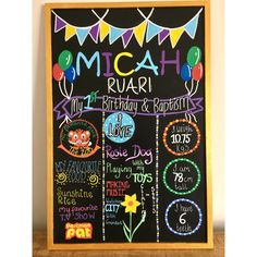 Celebrate a special birthday, with a handmade personalised chalkboard. This is a wonderful reminder of a special day and all the milestones that have been reached. It can also be used as a photo prop for a cake smash or a birthday shoot. The board can then be kept as a keepsake, to remind you of an exciting first year. Each board I make is one of a kind, made to your specifications. The designs drawn with paint and chalk pens You can give me as many ideas as you wish or leave the design up…