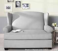 Wingback Twin Sleeper perfect to have the kids share a room while guests are staying