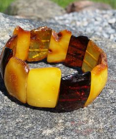 24,2 grams Genuine Natural Baltic Amber Mix Bracelet No Enhancement