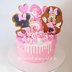 Birthday Cupcakes Fondant Minnie Mouse New Ideas Minnie Mouse Birthday Theme, 4th Birthday Cakes, Birthday Party Snacks, Minnie Mouse Cake, Girl Birthday, Girl Party Foods, Little Pony Cake, Cake & Co, Fondant Cupcakes