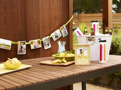 Line your Summer, backyard parties with your favorite prints. They are great conversation pieces! | Shutterfly.com