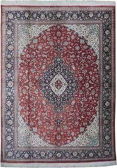 Finest Real Iranian Art Rug Handmade Rug 10' X 13' Silk Red – @bestrugplace