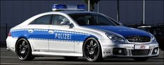 Mercedes CLS Brabus Rocket Police Car - revealed at the Essen Motor Show, this jaw-dropping Brabus creation was built for the German Tune It Safe! campaign. With a top speed of 225.19 mph, the twin-turbocharged CLS V12 S Rocket certainly lives up to its nickname.