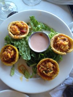 Tostones rellenos.  Puertorrican food.