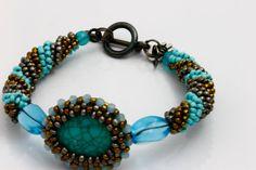 Turquoise Bracelet Vintage Inspired Bracelet. by KalitheoCreations