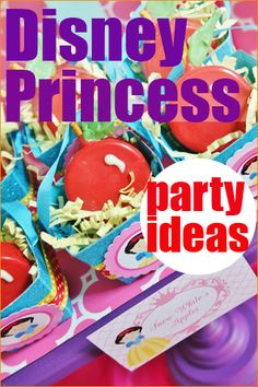 Princess Party.  Perfect for any little girl princess party.  Celebrate with one of her favorite characters or all the pretty princesses!  Ideas galore for a perfect party...