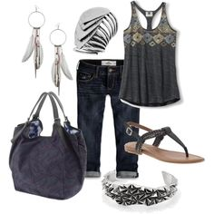 Dark and Silver, created by miranda7rose on Polyvore