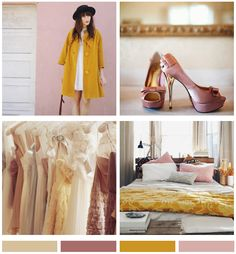 Mood Board: Dusty Pink & Mustard | *Lovely Clusters - The Pretty Blog