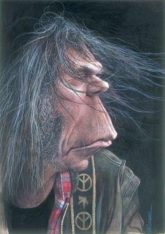 Neil Young Caricature (Sebastian Kruger)