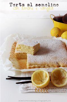 torta al semolino con limone e vaniglia