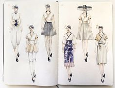 Fashiondesigner Muse-From Sketch to Runway Fashionadesigner Muse is a LA based Fashion design & illustration creator. Fashion Illustration Sketches, Fashion Sketchbook, Fashion Design Sketches, Fashion Figures, Fashion Models, Fashion Artwork, Fashion Drawings, Croquis Fashion, Fashion Portfolio Layout