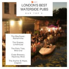In our opinion, any one of these would be a prime location to soak up some summertime vibes: The Mayflower (Rotherhithe), The Grapes (Limehouse), The Palm Tree (Mile End), Crate Brewery (Hackney Wick), and The Anchor & Hope (Clapton). Enjoy! #London #LondonLovesFood #LondonLife