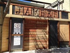 Really cool example of typography #cutouts in #wood for a large restaurant sign Restaurant Front