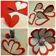 Lollipop Flower for Valentine's Day - easy kids craft!