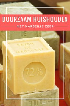 "In dit artikel uit de reeks 'duurzaam huishouden' lees je alles over de vele… In this article from the series ""Sustainable Household"" you will learn all about the many uses of soap marseille, a herbal based soap. Diy Cleaning Products, Cleaning Hacks, Marseille Soap, Cubicle Makeover, Good Housekeeping, Sustainable Living, Zero Waste, Clean House, Household"