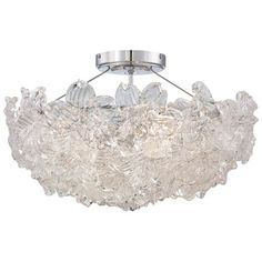 Bella Fiori Chrome Semi-Flush Light