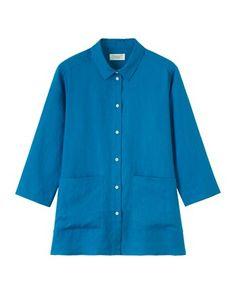 Women's Linen Overshirt toast