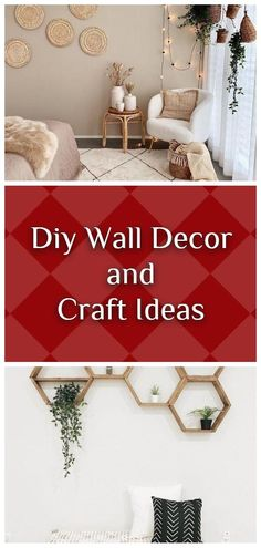 AMAZING, COST-EFFECTIVE AND EASY DIY WALL CRAFTS FOR THE BEGINNERS Craft Ideas, Decor Ideas, Diy Wall Decor, Home Decor, Wall Hooks, Wall Decals, Repurposed, Easy Diy, Clock