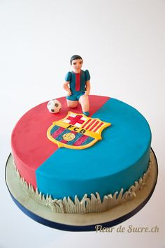 FC Barcelona Cake, http://www.fleurdesucre.ch