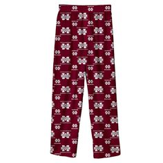 Boys 8-20 Mississippi State Bulldogs Team Logo Lounge Pants, Size: Xl 18-20, Dark Red