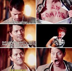 Did Misha really not know what they carved into his chest??