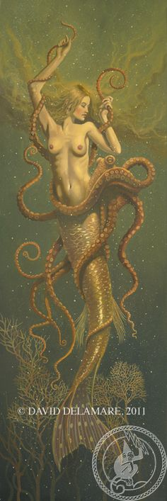 Mermaid & Octopus, 1 of 2  -  Artist: David Delamare