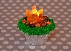 Campfire Cupcakes  Just like a real campfire these cupcakes smell great and will make everyone gather around.