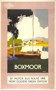 Percy Padden (father of Daphne) bus poster ~ 1921