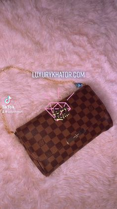 🛍 BOUJEE ON A BUDGET 🛒GET 25% OFF USING CODE SUMMER25 📲Follow our NEW account @juicykhator1 on TikTok for more! 💎Buy Now & Pay later with Affirm Real Leather, Leather Bag, Louis Vuitton Damier, Bag Accessories, Budget, Shoulder Bag, Purses, Luxury, Pattern