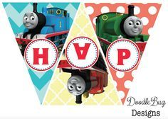 DoodleBug Designs: Thomas The Train Birthday Banner {Free Printable}