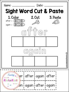Free Sight Word Practice. These sight word practice pages