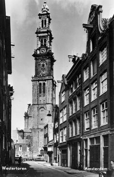 1950's. Westertoren. #amsterdam #1950