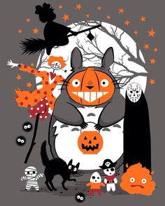 Cool Halloween art for fans of Miyazaki's work.