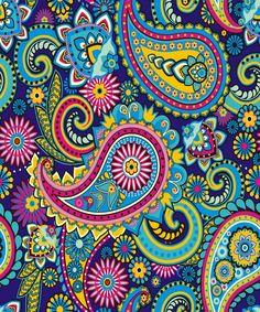 Paisley pattern wallpaper