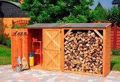 35 Trending garden cabinet wood DIY ideas – Home furnishings 35 Trending … – Fireplace Ideas 2020 Outdoor Fireplace Designs, Backyard Fireplace, Diy Fireplace, Outdoor Firewood Rack, Firewood Logs, Wood Storage Sheds, Firewood Storage, Building A Shed, Shed Plans