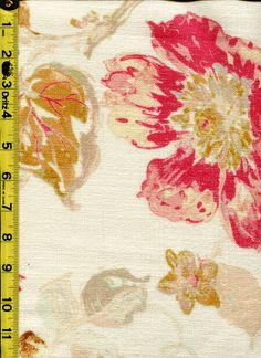 img9660 from LotsOFabric.com! Multi shades of pink and cream make this floral pattern flirty and feminine. Order swatches online or shop the Fabric Shack Home Decor collection in Waynesville, Ohio. #drapery #upholstery #bedding #pillow #interiordesign #homedecor #inspo #lifestyle #designer #fabric