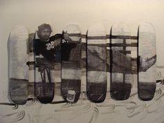 """A exposição """"Minha tábua"""" é a junção de arte e diversão. Quinze artistas expuseram seus trabalhos em shapes de skate por Iniciativa do arteiro urbano Éden Greenfield e do artista plásti…"""